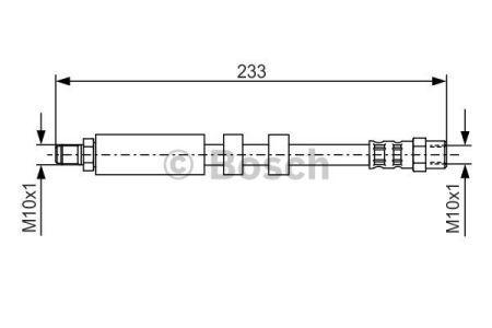 Гальмівний шланг AUDI V8 / AUDI A6 (4A 2, C4) / AUDI 100 Avant (4A5, C4) 1988-1997 р.