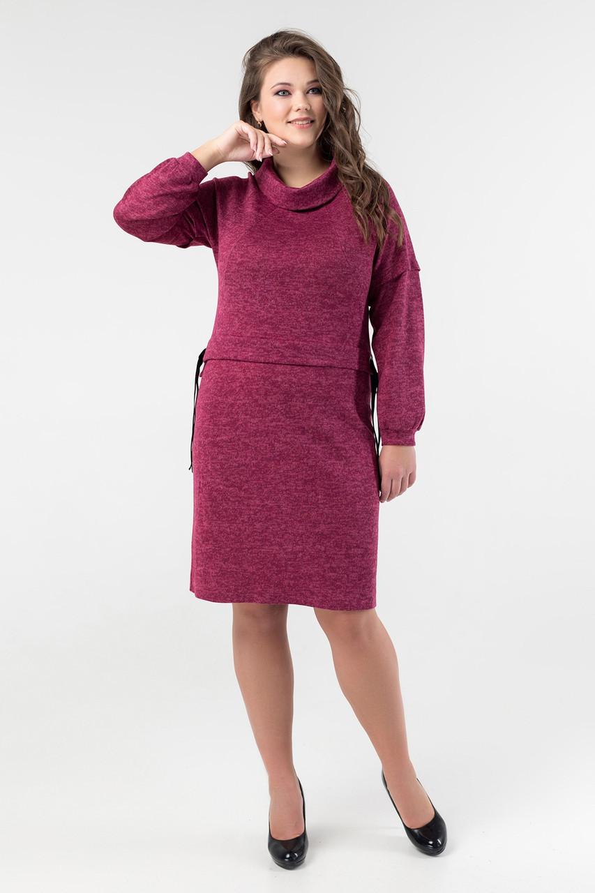 Платье Олеся 50-60 бордо