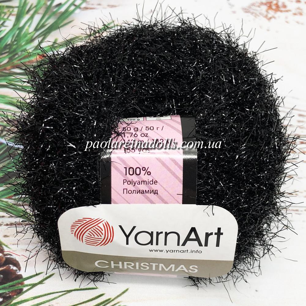 Пряжа ЯрнАрт Кристмас YarnArt Christmas, цвет №01 черный