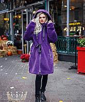 Шубка женская фиолетовая 41631