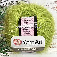 Пряжа ЯрнАрт Кристмас YarnArt Christmas, цвет №37 неоновый салат