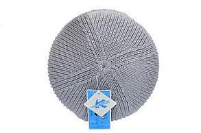 Шапка K-Option 55-57 см Светло-серая (K-09118-11), фото 2