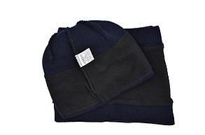 Комплект Flexfit шапка з помпоном и снуд Fila Темно-синий (F-0918-50), фото 3