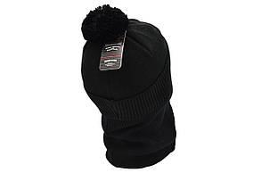 Комплект Flexfit шапка з помпоном и снуд Fila Чёрный (F-0918-51), фото 3
