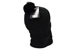 Комплект Flexfit шапка з помпоном и снуд New York Чёрный (F-0918-57), фото 3