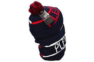 Комплект Flexfit шапка з помпоном и снуд Philipp Plein Темно-синий(F-0918-61), фото 2