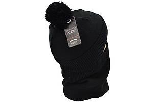Комплект Flexfit шапка з помпоном и снуд Supreme Чёрный (F-0918-64), фото 2