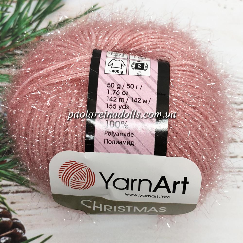 Пряжа ЯрнАрт Кристмас YarnArt Christmas, цвет №47 светлая роза
