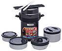 Набор для ланча ZOJIRUSHI SL-JAF14HG (4 контейнера + палочки), черный, фото 4