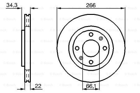 Гальмівний диск PEUGEOT / DS / OPEL / CITROEN / VAUXHALL