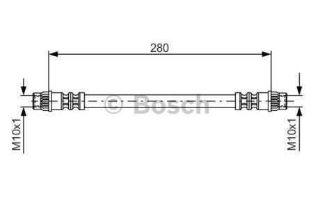 Тормозной шланг DACIA SANDERO / RENAULT 21 фургон (S48_) / RENAULT RAPID 1984-2002 г.