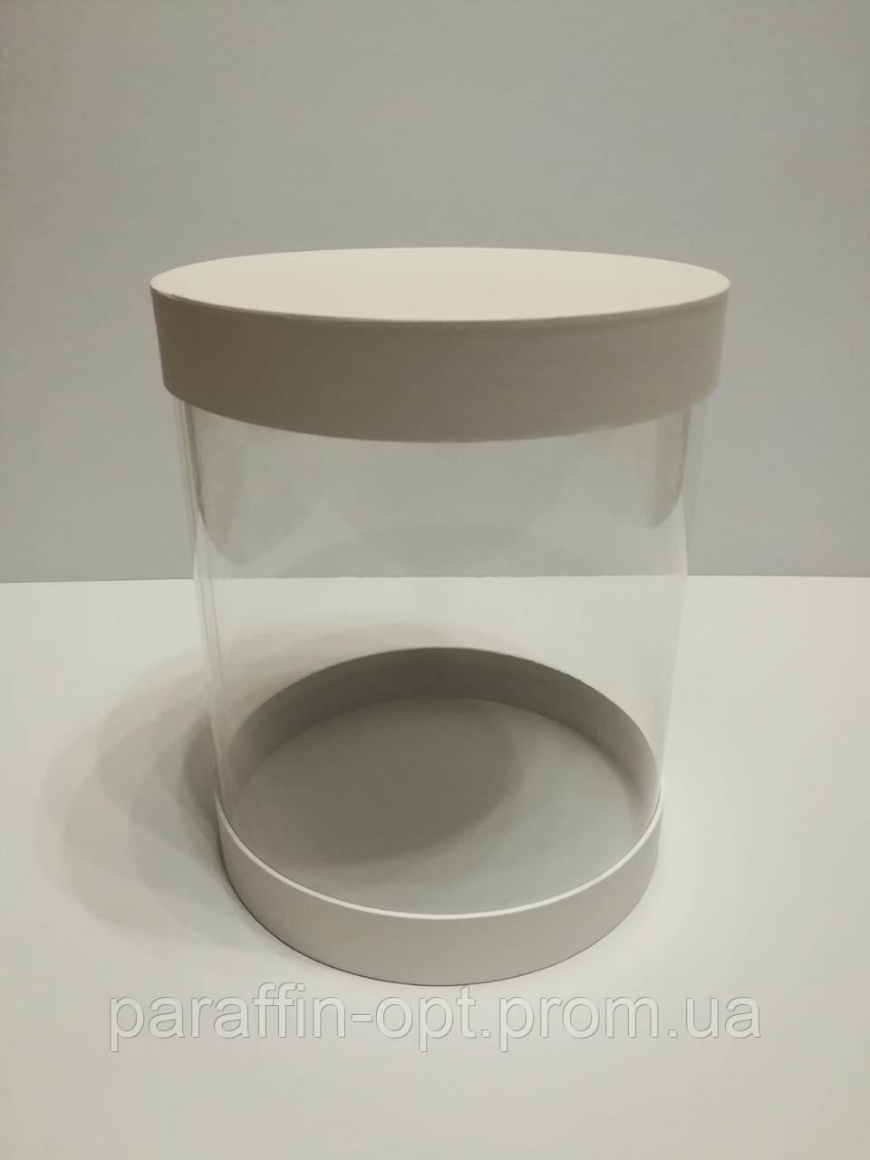 Подарочная коробка в форме шляпы прозрачная цвет - белый