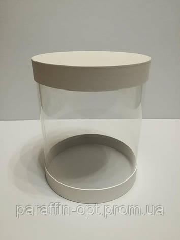 Подарочная коробка в форме шляпы прозрачная цвет - белый, фото 2