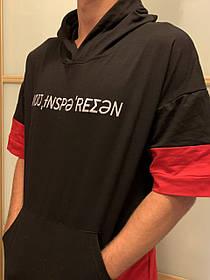 Хип-Хоп Swag  футболка oversize  с капюшоном Hip-Hop