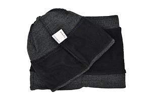 Комплект Flexfit шапка з помпоном и снуд Supreme Темно-серый (F-0918-67), фото 2