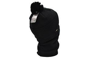 Комплект Flexfit шапка з помпоном и снуд North Face Чёрный (F-0918-69), фото 3