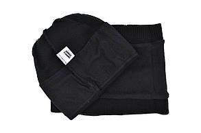 Комплект Flexfit шапка з помпоном и снуд Levi's Чёрный (F-0918-70), фото 3
