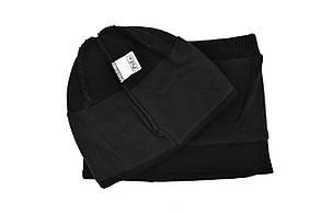 Комплект Flexfit шапка з помпоном и снуд POLO Face Чёрный (F-0918-71), фото 3