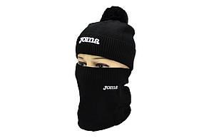 Комплект Flexfit шапка з помпоном и снуд Joma Чёрный (F-0918-73), фото 2