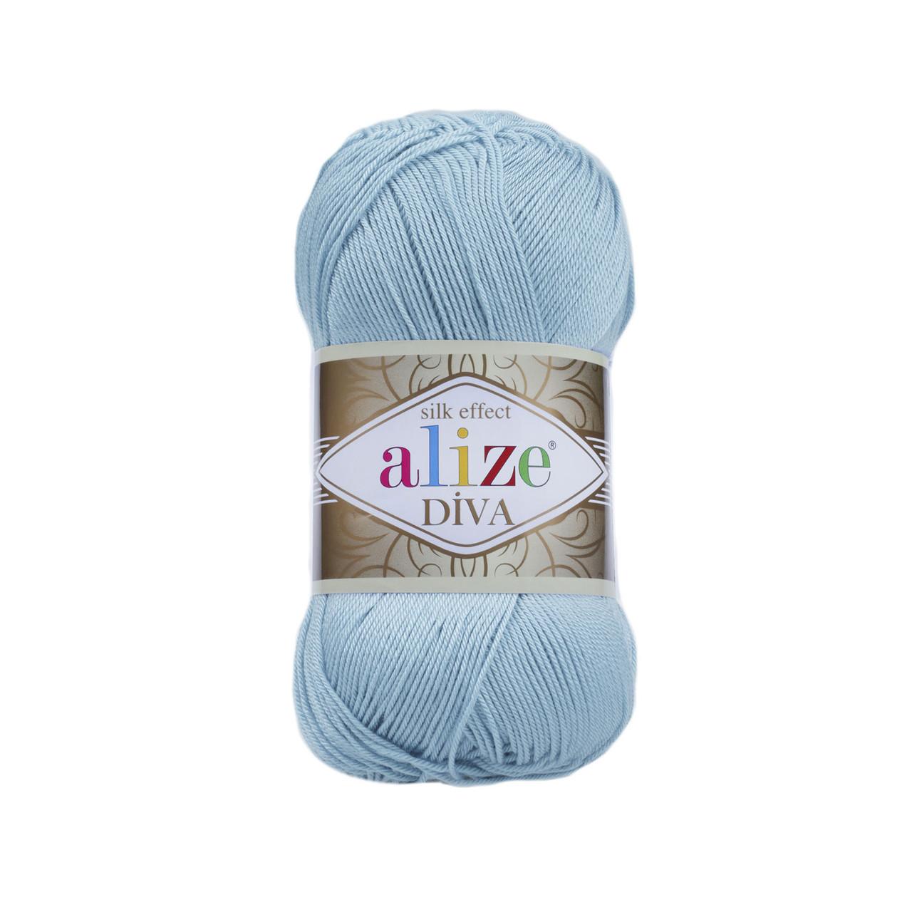 Пряжа Ализе Дива Alize Diva, цвет №346 светлая бирюза