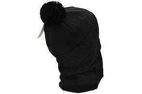 Комплект Flexfit шапка з помпоном и снуд FC Juventus Чёрный (F-0918-85), фото 3