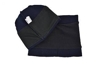 Комплект Flexfit шапка з помпоном и снуд FC Chelsea Темно-синий (F-0918-86), фото 2