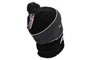 Комплект Flexfit шапка з помпоном и снуд Audi Чёрный (F-0918-93), фото 2