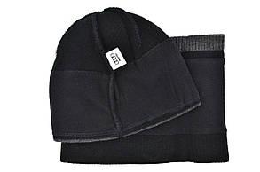 Комплект Flexfit шапка з помпоном и снуд Audi Чёрный (F-0918-93), фото 3
