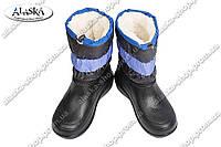 Женские дутики синие (Код: ТС снеж)