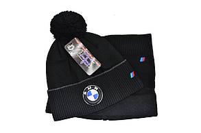Комплект Flexfit шапка з помпоном и снуд BMW Чёрный (F-0918-96), фото 2