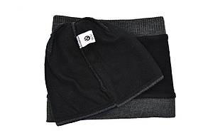 Комплект Flexfit шапка з помпоном и снуд BMW Темно-серый (F-0918-97), фото 3