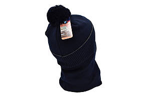 Комплект Flexfit шапка з помпоном и снуд BMW Темно-синий (F-0918-98), фото 3
