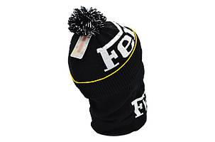 Комплект Flexfit шапка з помпоном и снуд Ferrari Чёрный (F-0918-99), фото 2