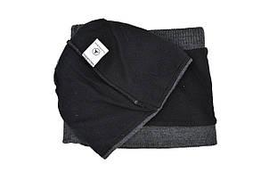 Комплект Flexfit шапка з помпоном и снуд Mercedes Темно-серый (F-0918-103), фото 3