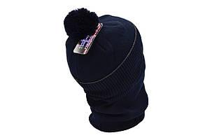 Комплект Flexfit шапка з помпоном и снуд Mercedes Темно-синий (F-0918-104), фото 2