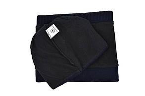 Комплект Flexfit шапка з помпоном и снуд Mercedes Темно-синий (F-0918-104), фото 3