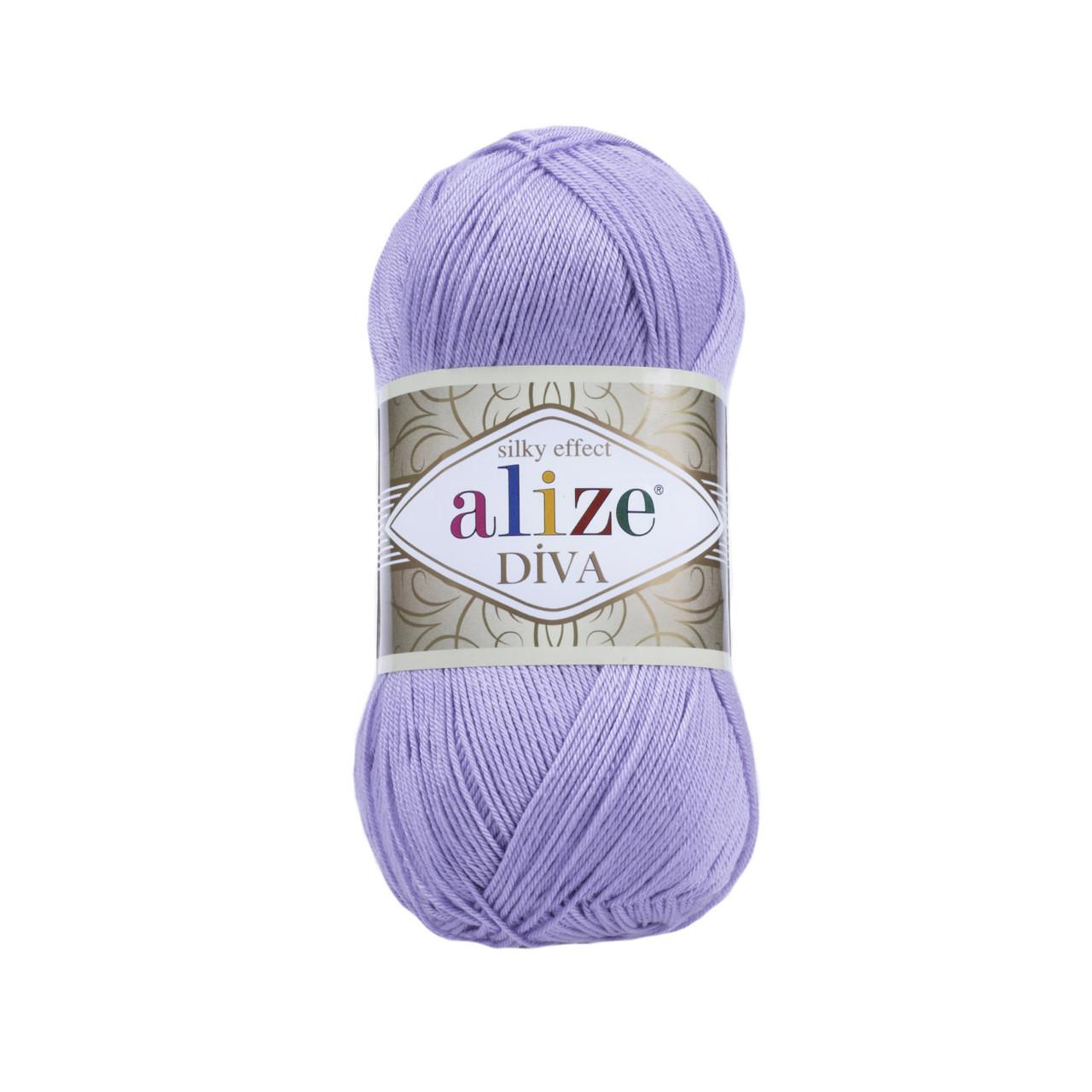 Пряжа Ализе Дива Alize Diva, цвет №158 лавандовый