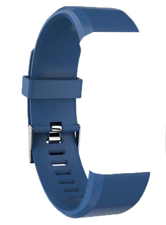 Силиконовый ремешок для смарт браслета Smart Band 115+. Темно синий и Фиолетовый.