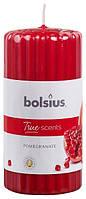 Свеча ароматическая ребристая гранат Bolsius 12 см (60/120-57. 38583  POM)