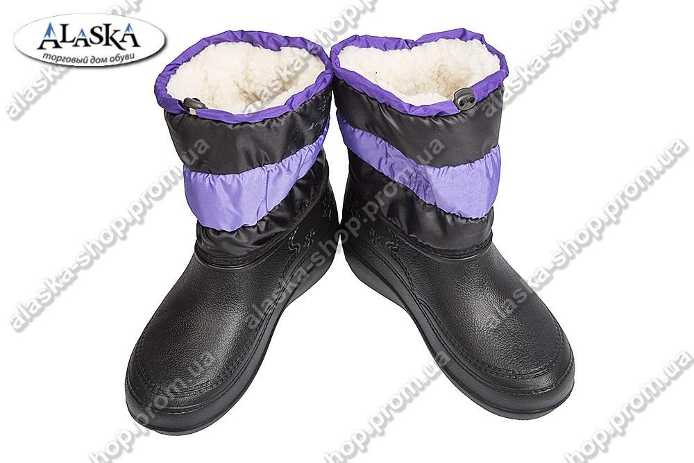 Женские дутики фиолетовые (Код: ТС снеж)