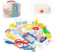 Детский набор доктора в чемоданчике Чудо аптечка 37 предметов, фото 1