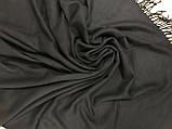 Однотонный  палантин с бахромой цвет чёрный, фото 3