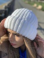 Шапка женская теплая крупная вязка разные цвета Shv157