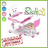 Детская парта со стульчиком Evo-kids BD-04 XL Teddy (с лампой)