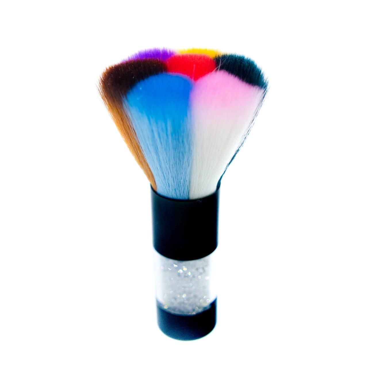 Щетка для ногтей, со стразами, разноцветный ворс