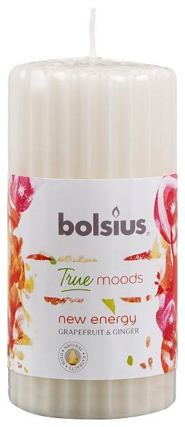 Свеча ароматическая ребристая грейпфрут и имбирь Bolsius 12 см (60/120-53 NEY)