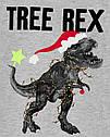 """Новогодний реглан для мальчика """"Динозавр Tree Rex"""" Carter's серый, новогодняя кофточка 4Т/98-105 см, фото 2"""