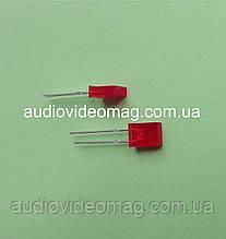 Светодиод 3V прямоугольный 2 х 5.7 мм, диффузный, цвет красный