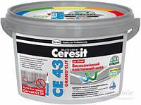 Высокопрочный эластичный цветной шов до 20 мм Ceresit CE 43 (белый)
