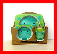 Набор детской бамбуковой посуды, маленькая, фото 1